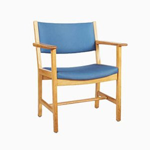 Vintage Lacquered Oak Armchair by Hans J. Wegner for Getama