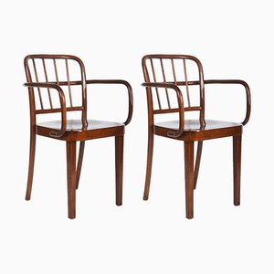 Dining Armchairs by Josef Frank for Thonet, 1930s, Set of 2