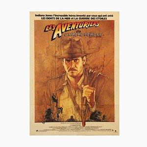 Französisches Jäger des Verlorenen Schatzes Filmplakat von Richard Amsel, 1981