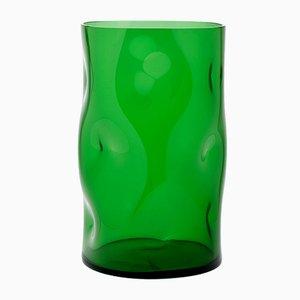 Small Green Bugnato Vase by Eligo