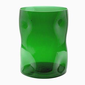 Large Green Bugnato Vase by Eligo
