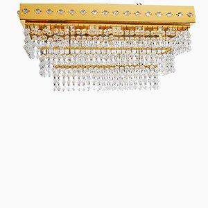 Brass & Crystal Glass Chandelier from Lobmeyr, 1970s