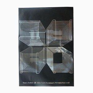 Vintage Verner Panton Wire System Poster by Hablützel & Jacquet for Lüber, 1970s