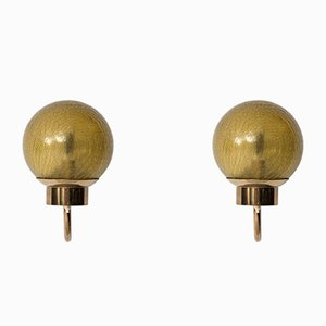 Model V-118 Wall Lamps from Bergboms, 1950s, Set of 2