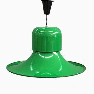 Green Enameled Pendant by Joe Colombo for Stilnovo, 1970s