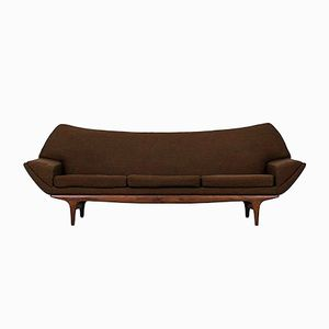 Brown Sofa by Johannes Andersen for Trensum, 1960s