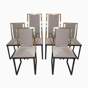French Chairs by Michel Mangematin, 1970s, Set of 6