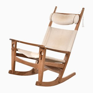 GE673 Rocking Chair by Hans J. Wegner for Getama, 1970s
