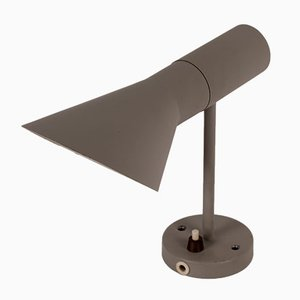 Small Grey AJ Wall Lamp by Arne Jacobsen for Louis Poulsen, 1970s