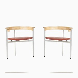 PK 11 Armchairs by Poul Kjaerholm for Kold Christensen, 1950s, Set of 2