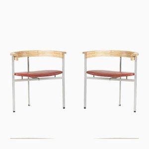 PK 11 Armlehnstühle von Poul Kjaerholm für Kold Christensen, 1950er, 2er Set