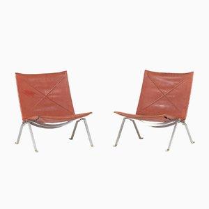 PK 22 Lounge Chairs by Poul Kjæerholm for Kold Christensen, 1950s, Set of 2