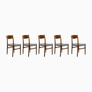 Chaises de Salle à Manger Mid-Century de Glyngore Stolefabrik, Danemark, Set de 5