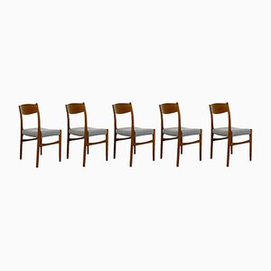 Mid-Century Danish Dining Chairs from Glyngøre Stølefabrik, Set of 5