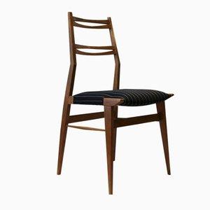 Italian Striped Fabric Ash Chair, 1950s
