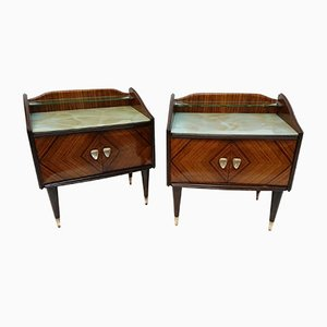 Rosewood Nightstands by Fratelli Proserpio, 1950s, Set of 2