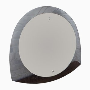 Mid-Century Space Age Smoked Glass Wall Mirror, 1960s