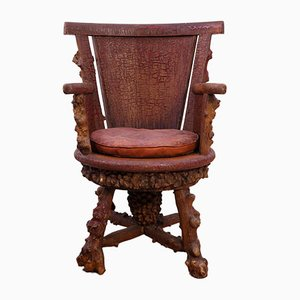 Rusticated Desk Chair, 1900s