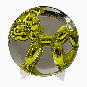 Gelber Französischer Luftballonhund Teller von Jeff Koons für Bernardaud, 2015