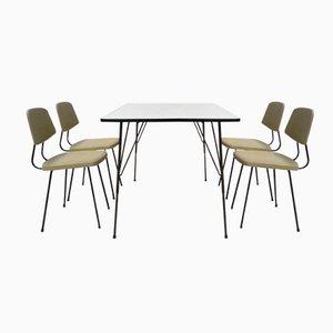 Esszimmerset von Rudolf Wolf für Elsrijk Steel Furniture, 1950er