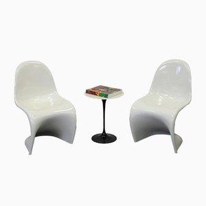 Panton Stühle in Creme-Weiß von Verner Panton für Horn, 1989, 2er Set