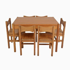 Dining Set by Illmari Tapiovaara for Laukaan Puu, 1960s