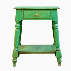 Antique Wooden Side Table, 19th Century