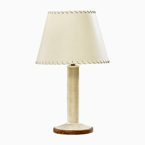 Galuchat Table Lamp by Clement Rousseau, 1930s