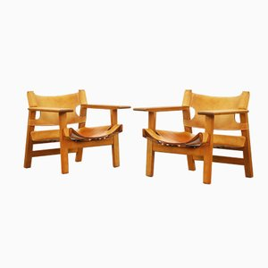 Spanish Chairs by Børge Mogensen for Fredericia, 1958, Set of 2