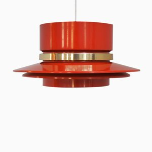 Orange Pendant by Carl Thore for Granhaga Metal Industri, 1960s