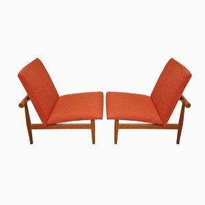 Mid-Century Japan Stühle von Finn Juhl für France & Søn, 2er Set