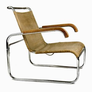 B35 Club Armchair by Marcel Breuer for Thonet, 1930s