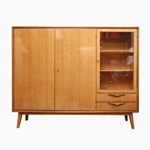 Walnut & Brass Highboard, 1950s