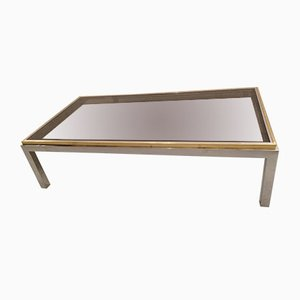 Vintage Glass, Brass, and Chrome Flaminia Coffee Table by Willy Rizzo