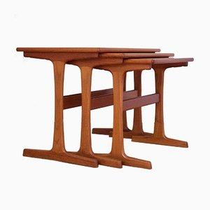Mid Century Nesting Tables By Kai Kristiansen For Vildbjerg Mobelfabrik