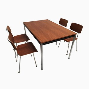 Model 1263 Chairs and Dining Table by A.R. Cordemeyer for Gispen, 1960s