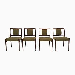 Palisander Esszimmerstühle von Johannes Andersen für Uldum, 1950er, 4er Set