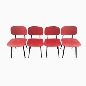 Dutch Revolt Chairs by Friso Kramer for Ahrend De Circel, 1954, Set of 4