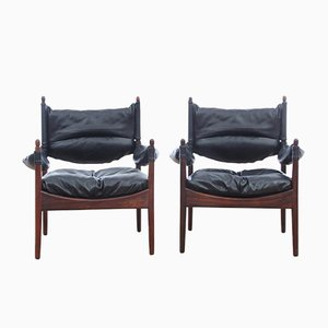 Mid-Century Modern Danish Modus Lounge Chairs by Kristian Vedel for Soren Willadsen, 1963, Set of 2