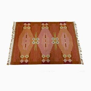 Mid-Century Örbyhus Flachgewebe Teppich von Ingegerd Silow