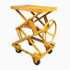 Gelber Verstellbarer Industriewagen