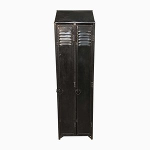 Vintage Riveted Cloakroom Locker with Sloping Top