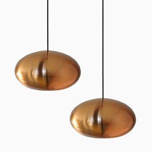 Lampade a sospensione Medio in rame di Jo Hammerborg per Fog & Morup, set di 2