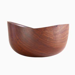 Large Asymmetrical l DDC/381 Bowl in Teak