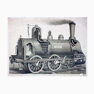 Locomotive Wall Chart, 1912
