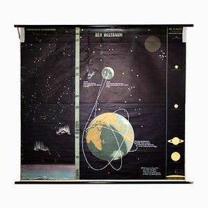 Large Wall Chart of the Universe by Dr. Jensen, 1967