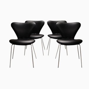 Model 3107 Butterfly Chairs by Arne Jacobsen for Fritz Hansen, 1960s, Set of 4