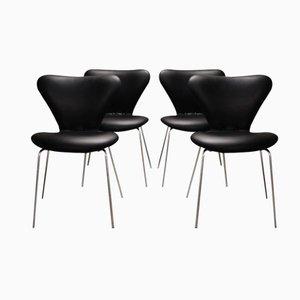 Modell 3107 Butterfly Stühle von Arne Jacobsen für Fritz Hansen, 1960er, 4er Set