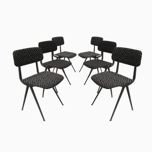 Mid-Century Result Chairs by Friso Kramer & Wim Rietveld for Ahrend De Cirkel, Set of 6