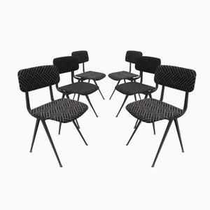 Mid-Century Result Stühle von Friso Kramer & Wim Rietveld für Ahrend De Cirkel, 6er Set
